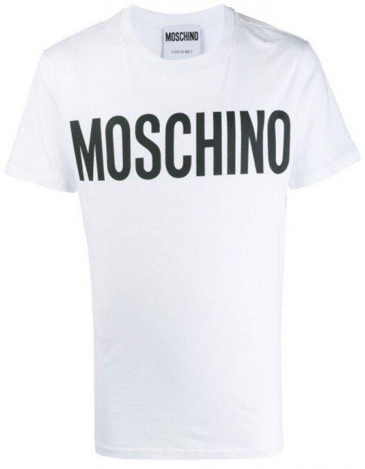 Tricou MOSCHINO, Imprimeu LOGO, Alb - 07052040A100146