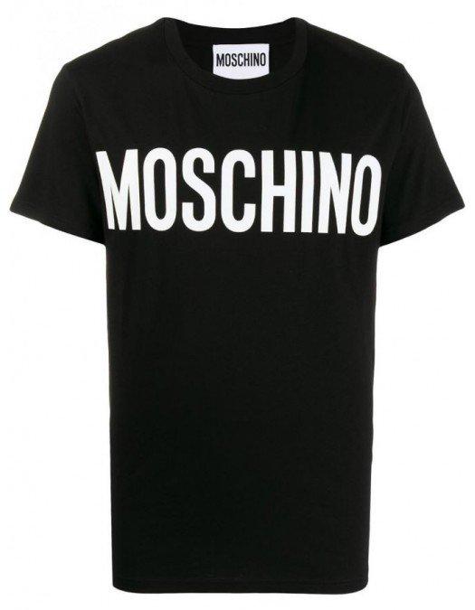 Tricou MOSCHINO, Imprimeu LOGO, Negru - 07052040A1555