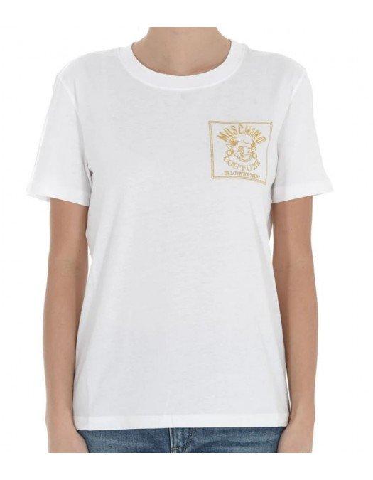 Tricou MOSCHINO, Imprimeu Moschino Couture, Alb - 07771040A1001