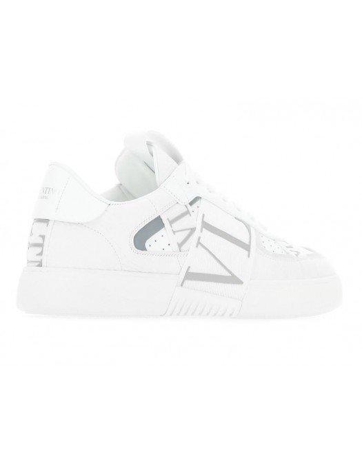 Sneakers VALENTINO GARAVANI, Banda logo atasata, Alb - 0C58WRQ22E