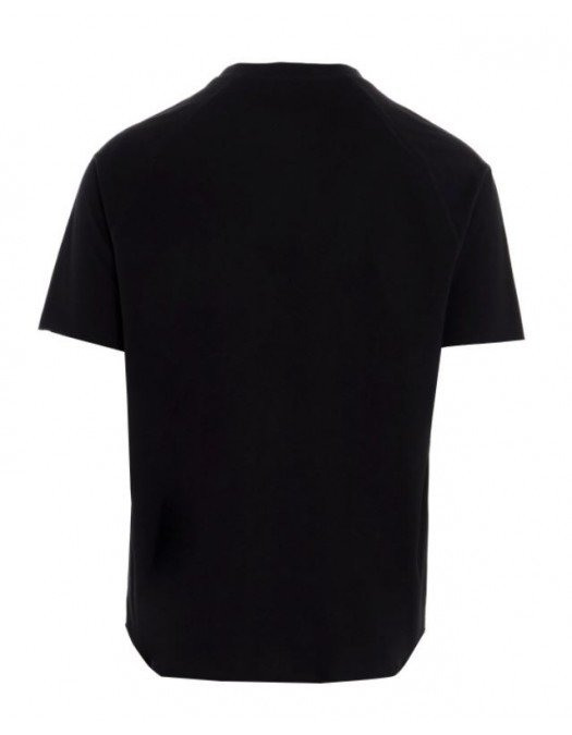Tricou Balmain, Imprimeu Frontal, Negru - 11252I307EAB