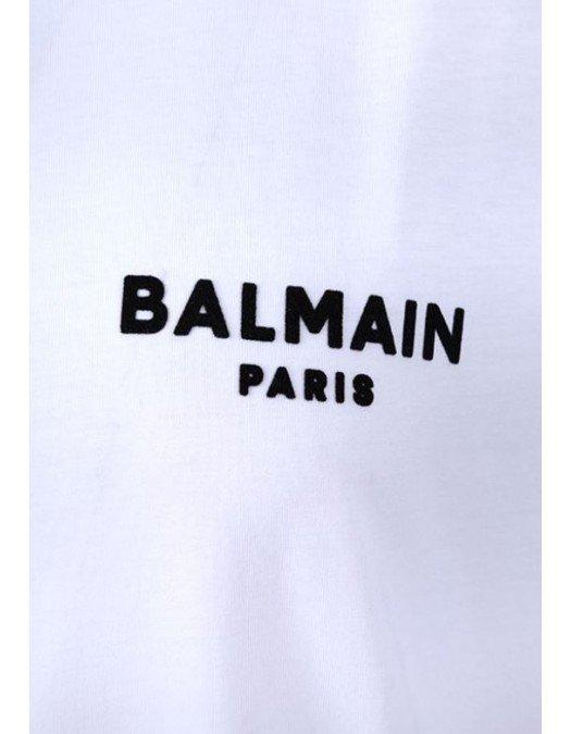 Tricou Balmain, White, Logo Frontal - 11350B001GAB