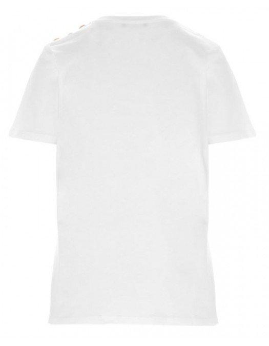 Tricou Balmain, Imprimeu Roz, Nasturi Atasati - 11350B001GBY