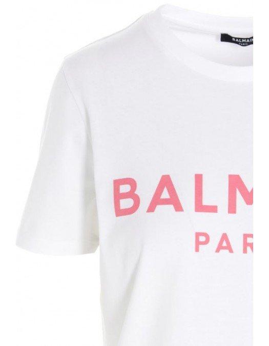Tricou Balmain, White, Imprimeu colorat - 11350B019EAB