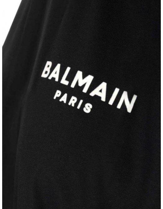 Tricou Balmain, Logo Alb - 11351B013EAB