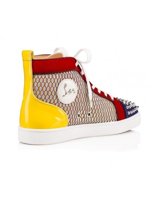 Sneakers CHRISTIAN LOUBOUTIN, Insertii metalice, Multicolor - 1190398CMA3