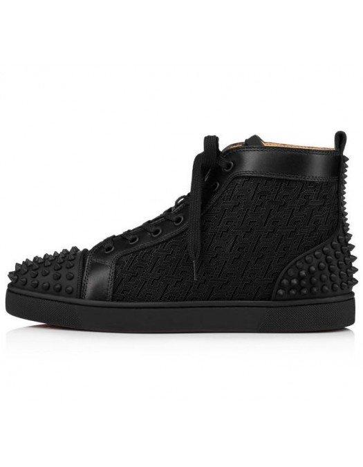 Sneakers Christian Louboutin, LOW SPIKES2, BLACK - 1210802B026