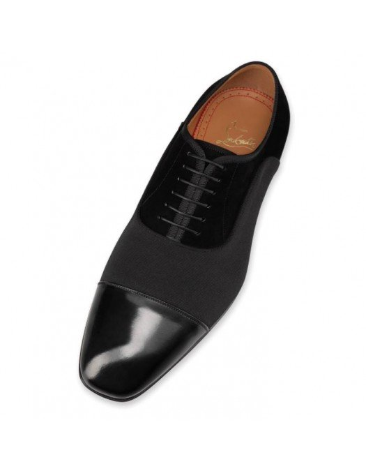 Pantofi Christian Louboutin, Eleganti,  Leather Logo Oxfords - 1210982BK01