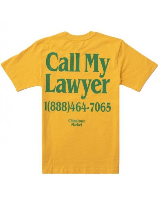 "Tricou Chinatown Market, Logo verde, ""Call my Lawyer"" - 1990272YELLOW"