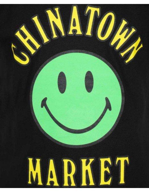 Tricou Chinatown Market, Logo colorat smiley, Bumbac - 1990273BLACK