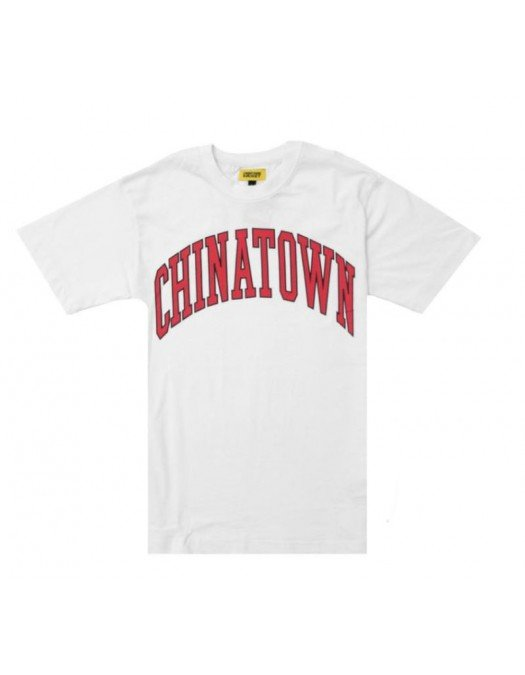 Tricou Chinatown Market , Logo Rosu, White - 1990277WHT