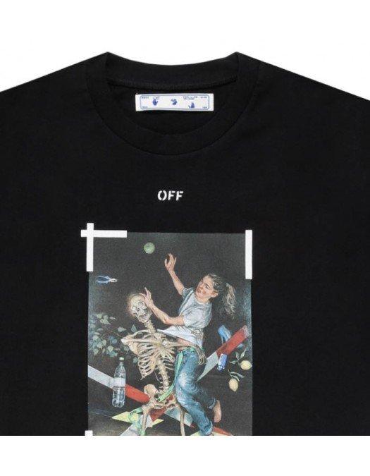 Tricou Off White, Oversized, Imprimeu grafic - 20FAB0151001