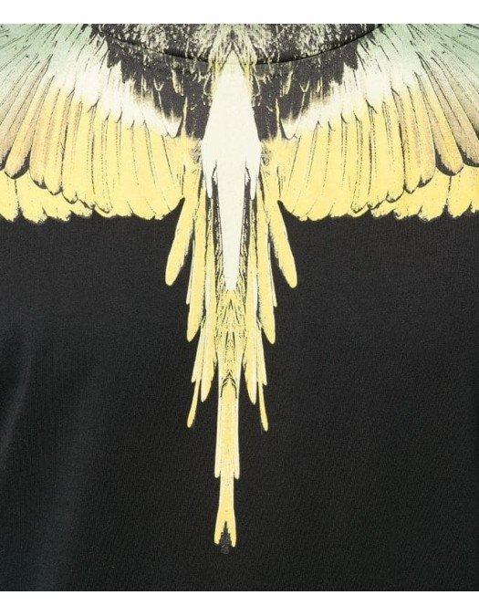 Tricou MARCELO BURLON, Insertie Grafica Galbena - 20JER0011016