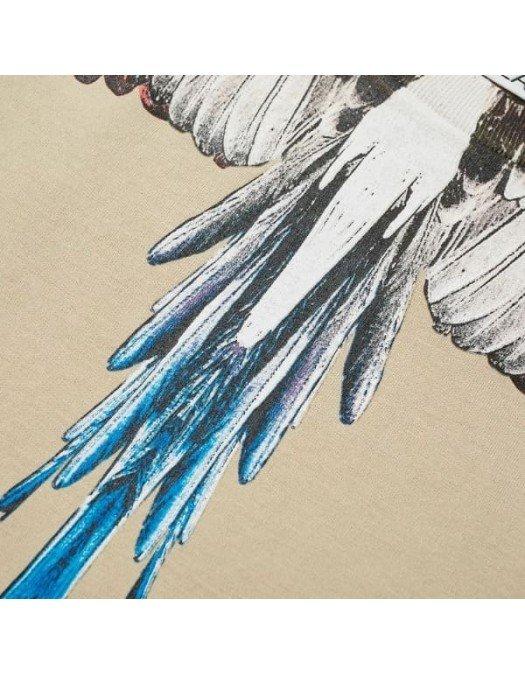 Tricou MARCELO BURLON, Insertie multicolora, Bej - 20JER0016128