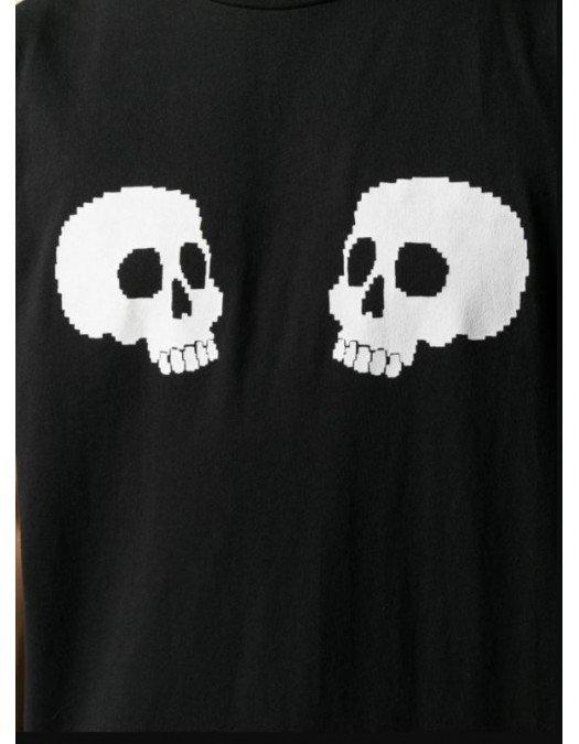 Tricou Palm Angels, Skull, Negru - 20JER0111001