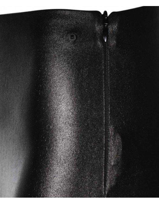 Pantaloni Karl Lagerfeld, Black, Piele eco - 210W1007980