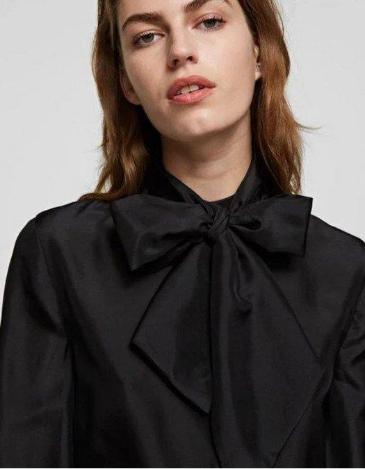 Camasa Karl Lagerfeld, Matase, Accesorizata cu funda - 210W1602999
