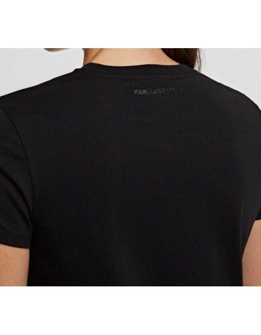 Tricou Karl Lagerfeld, Negru, Logo Frontal - 210W170399