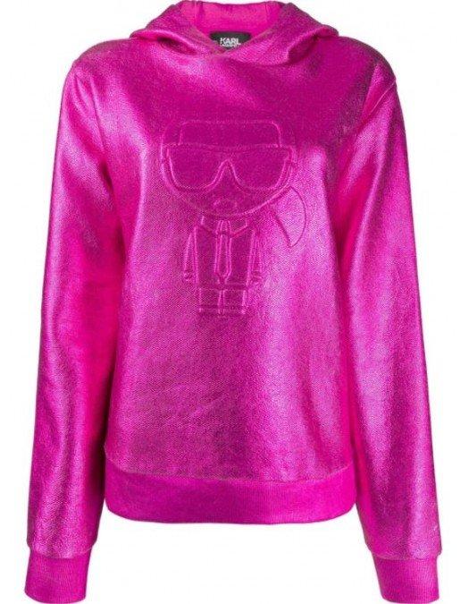 Hanorac Karl Lagerfeld, Imprimeu 3D, Bumbac - 210W1801544