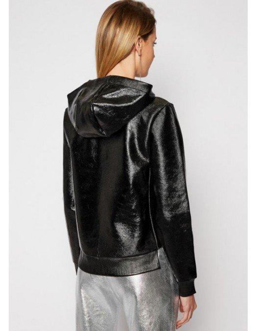 Hanorac Karl Lagerfeld, Negru, Imprimeu frontal - 210W1801980