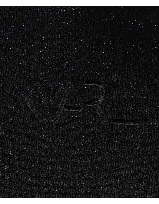 Hanorac Karl Lagerfeld, Cropped, Negru - 210W1812364