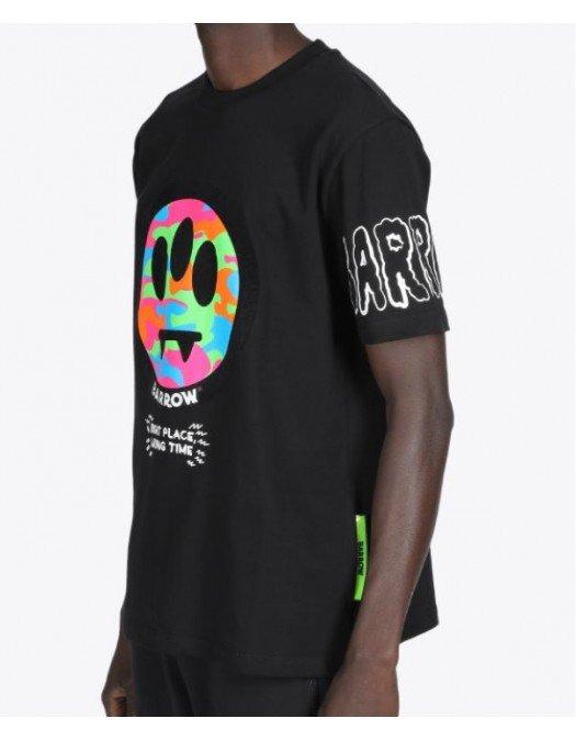 Tricou BARROW, Logo colorat, Black - 28001110