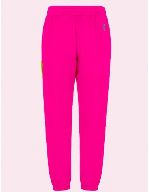 Pantaloni Barrow, Pink, Logo Atasat - 28014135