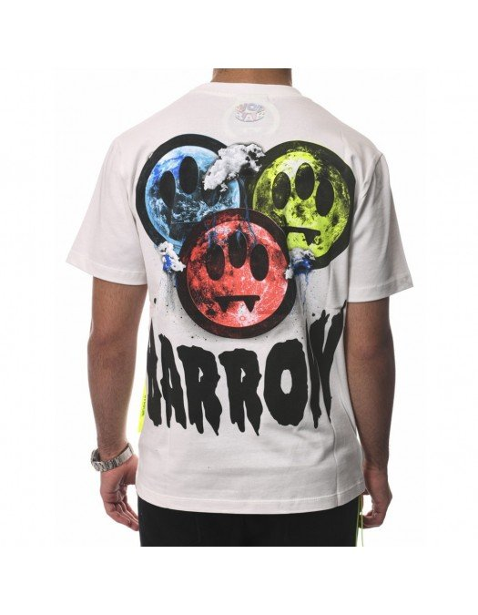 TRICOU BARROW, Back Logo Print, Alb - 29931002