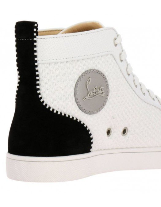 SNEAKERS CHRISTIAN LOUBOUTIN , Ac Louis junior Spikes, White - 3190310CMA3