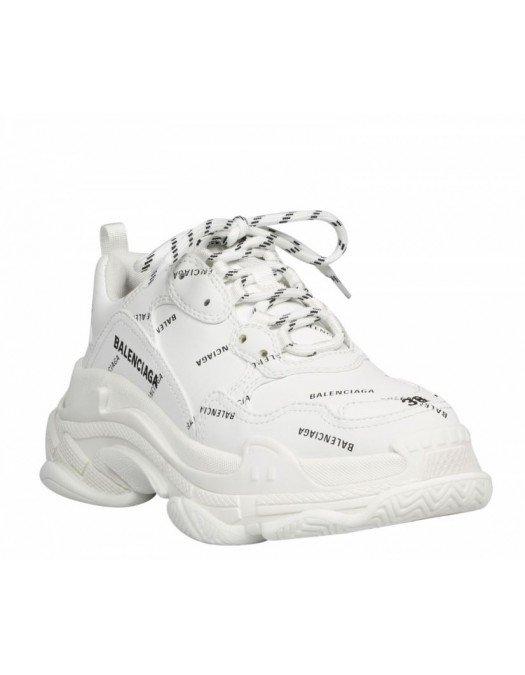 SNEAKERS BALENCIAGA, White, Logo Negru - 536737W2FA19010
