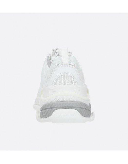 Sneakers BALENCIAGA, Faux Leather, Alb si gri - 524039W2FS41200
