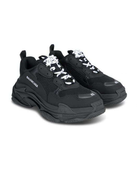Sneakers Balenciaga Triple S, Piele, Negru - 534217W2CA110