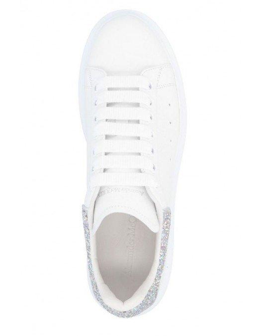 Sneakers Alexander Mcqueen, Insertie glitter alb - 558945WHTQI9413