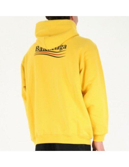 Hanorac BALENCIAGA, Kangaroo Pocket, Yellow - 600583TKVI97442
