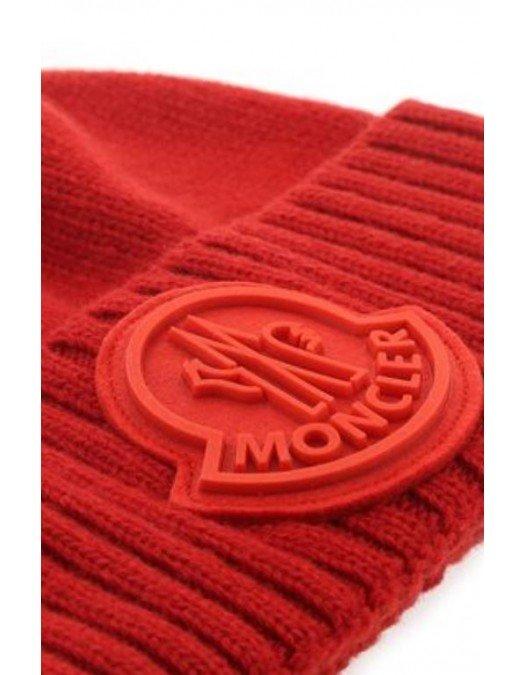 Caciula MONCLER, Logo atasat, Rosie - 600A9524456