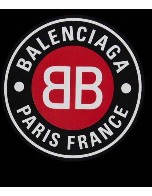 Tricou BALENCIAGA, Imprimeu frontal, Negru - 612964TJVD610