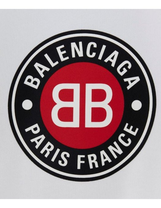 Tricou BALENCIAGA, Imprimeu frontal, Alb - 612964TJVD69