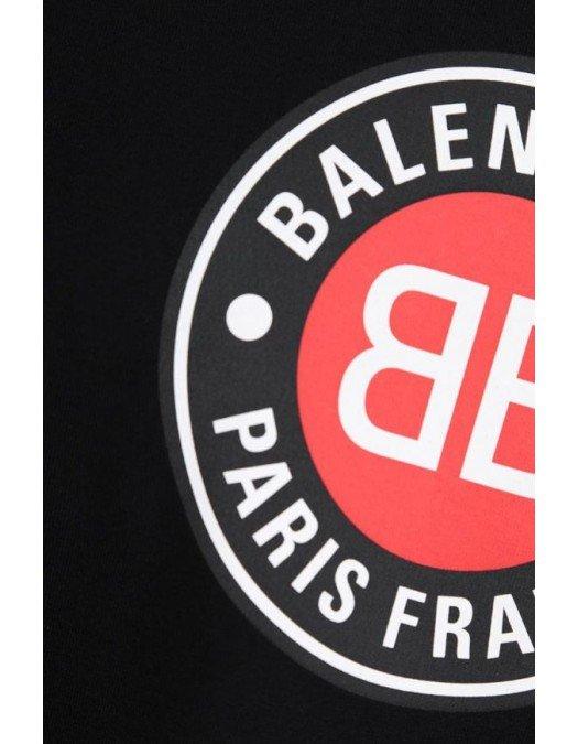 Tricou Balenciaga, Imprimeu frontal, Negru - 612966TJVD690BLACK