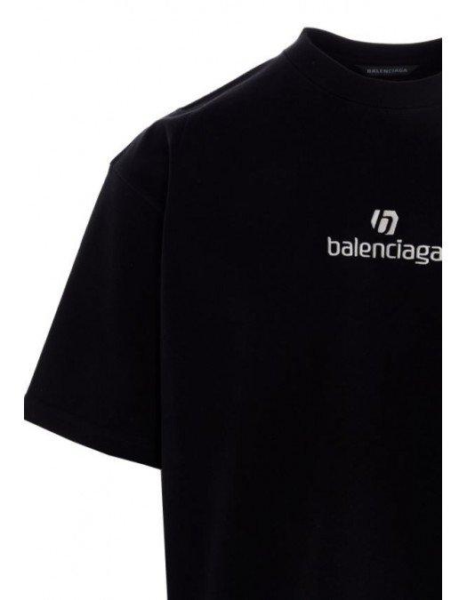 Tricou Balenciaga, Imprimeu frontal, Negru - 612966TJVD934