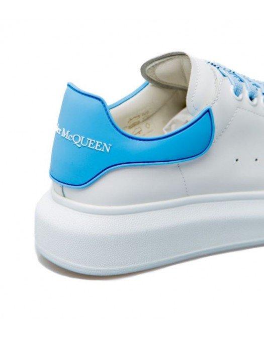 Sneakers Alexander Mcqueen, Sireturi colorate, Alb - 621056WHXMT92