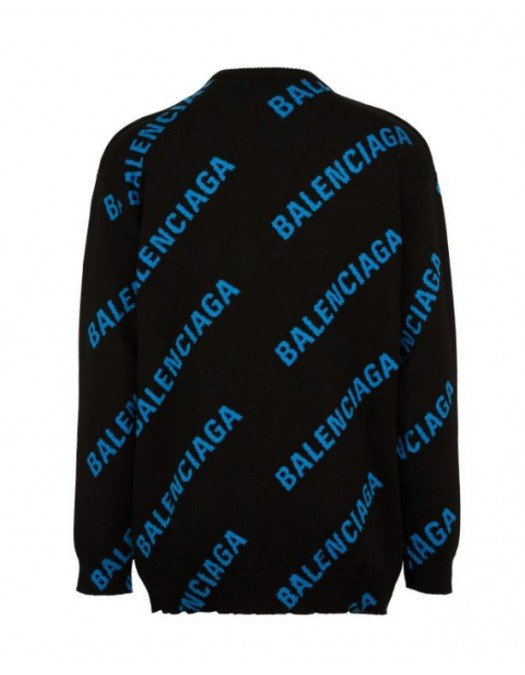 Bluza Balenciaga, Print all over, Negru - 625970T317865