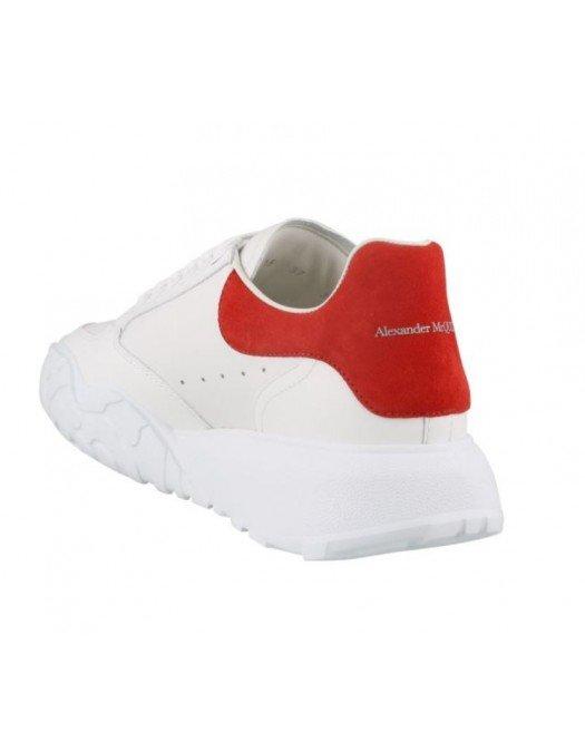 Sneakers Alexander Mcqueen, Insertie piele, Alb - 633915WHZ9676