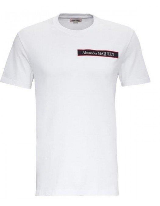 Tricou Alexander Mcqueen, Logo Frontal, White - 642662QQX749000
