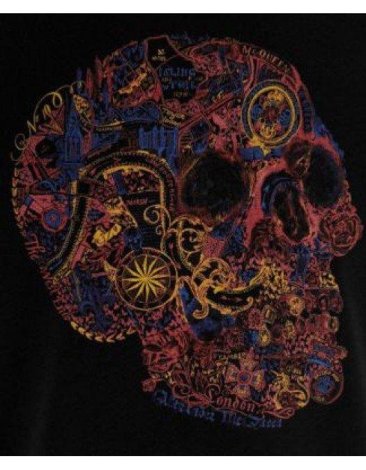 Tricou Alexander Mcqueen, Negru, Skull Color - 649873QQZ530901