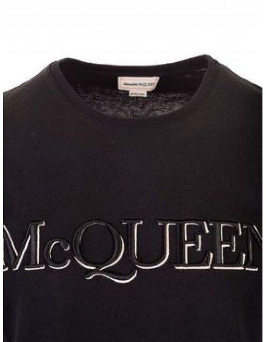 Tricou Alexander Mcqueen, Black, Bumbac - 649876QQZ560901