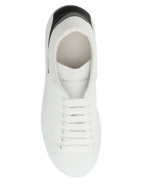 Sneakers Alexander Mcqueen, Insertie neagra inferioara, Alb - 650789WHZ4U9061