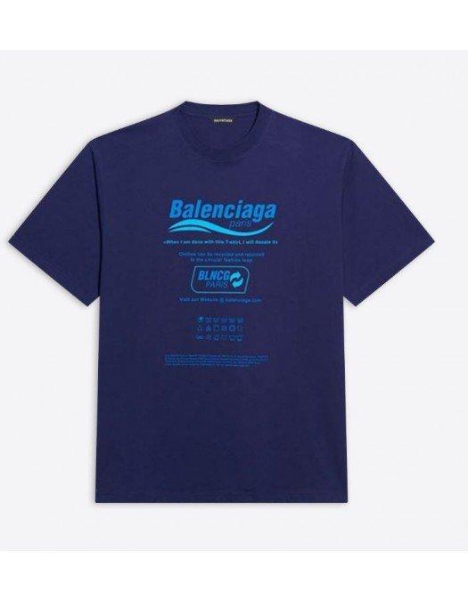 TRICOU BALENCIAGA, Blue - 651795TKVF83866