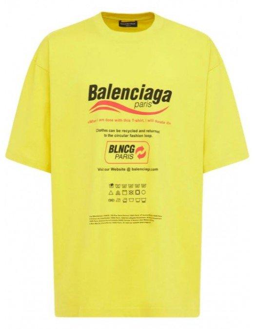 TRICOU BALENCIAGA, Yellow - 651795TKVF87175