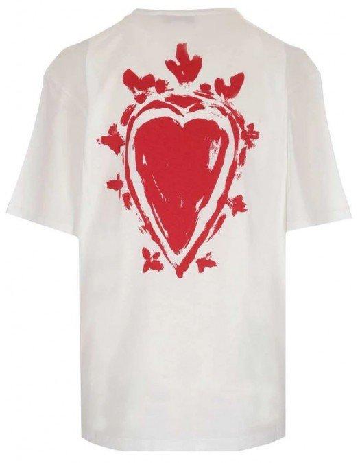 Tricou  ALEXANDER MCQUEEN, Insertie Logo, Red Paint - 659729QZADJ0908