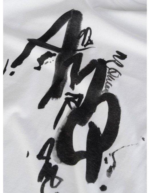 Tricou Alexander Mcqueen, Painted logo, Alb - 662549QRZ630900
